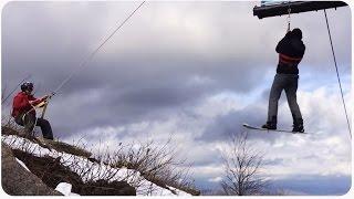Ski-Lift Rescue   Hanging Around