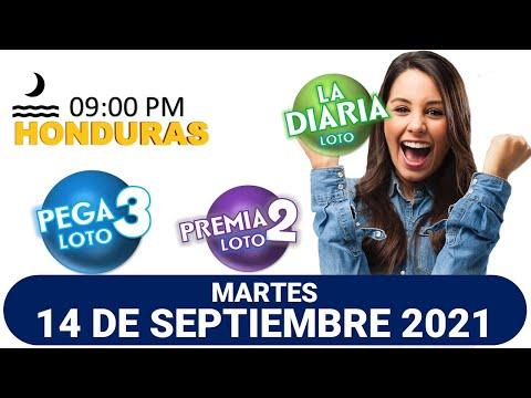 Sorteo 09 PM Loto Honduras, La Diaria, Pega 3, Premia 2, MARTES 14 de septiembre 2021  