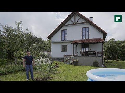 Дом как из Европейской глубинки с цокольным этажом // FORUMHOUSE