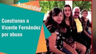 Vicente Fernández cuestionado por tocarle el pecho a una de sus fan   Actualidad