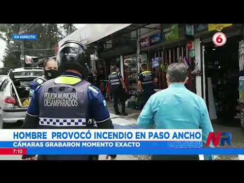 Hombre provocó incendio en Paso Ancho