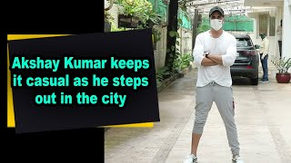 Akshay Kumar keeps it casual as he steps out in the city - IANSINDIA