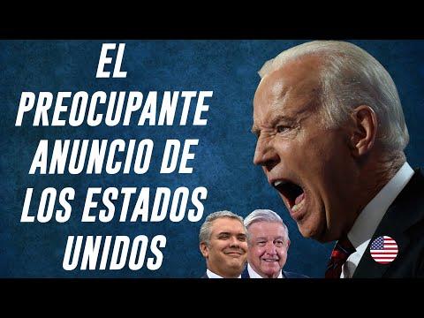 Joe Biden anuncia nuevas intervenciones en MÉXICO y COLOMBIA
