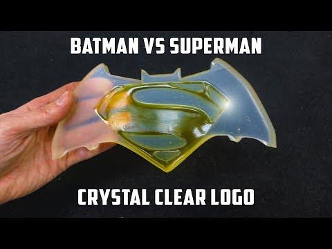 connectYoutube - Casting Crystal Clear Batman vs Superman Logo | PressTube