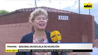 Basural en escuela de Asunción