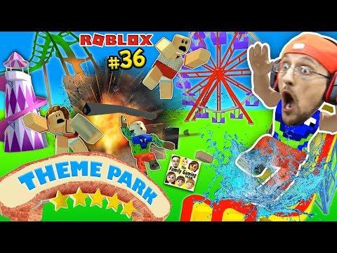 connectYoutube - THEME PARK TYCOON ! Roller Coaster Roblox Fail Accident! FGTEEV Amusement Park Showcase Funny Glitch