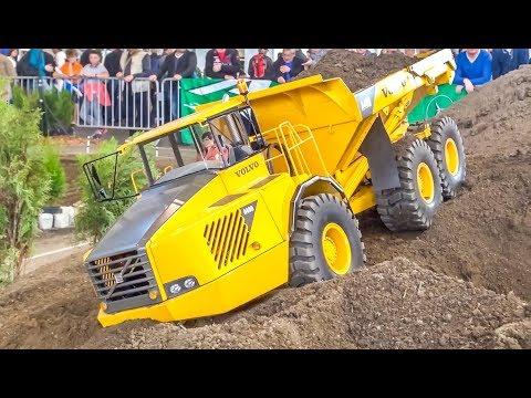 HANDMADE! GIANT! HEAVY! RC Trucks, Tractors and Machines!