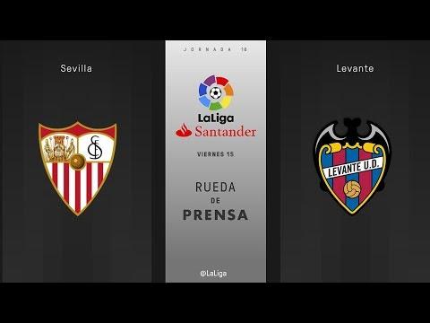 Rueda de prensa Sevilla vs Levante