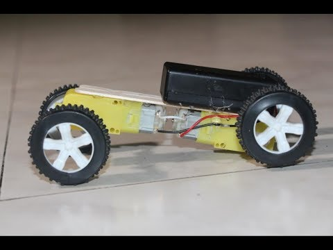 how to make amazing kids car toy with gear motor