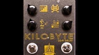 Kilobyte Lo Fi Delay Pedal Demo