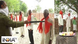 COVID-19: BJYM distributes 'gamcha', soaps to needy in Aligarh - INDIATV