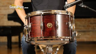 Gretsch 8x14 USA Custom Maple Snare Drum-Satin Walnut 10—Quick 'n' Dirty