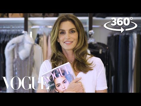 Cindy Crawford Takes You on a 360° Tour of Her Closet   Supermodel Closets   Vogue