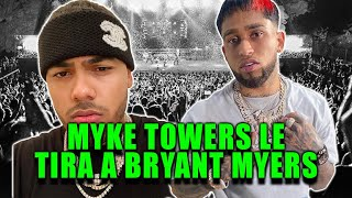 Myke Towers le tira a Bryant Myers
