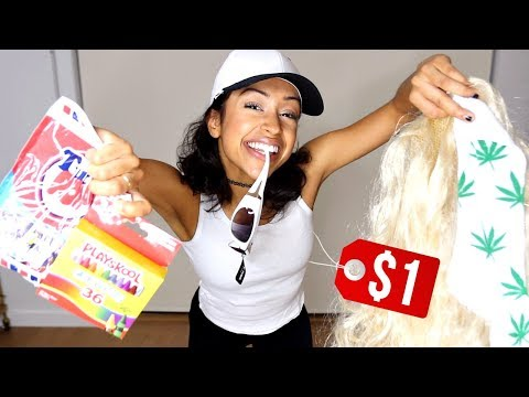 WEARING DOLLAR STORE OUTFITS! + DOLLA HAUL!