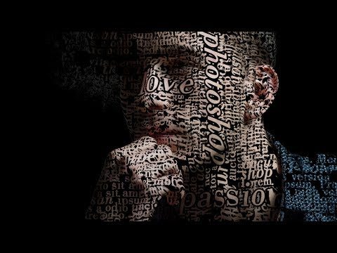 Photoshop Tutorial | Text Portrait Poster Design