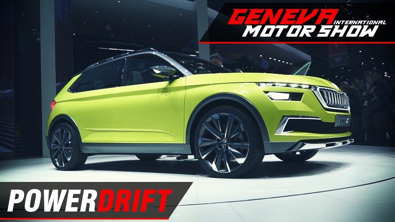 स्कोडा विजन एक्स - cng-petrol-electric हाइब्रिड कॉम्पैक्ट एसयूवी : geneva motor show 2018 : powerdrift
