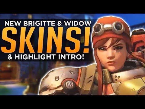 connectYoutube - Overwatch: NEW Brigitte & Widow SKINS! - Highlight Intros COMING!