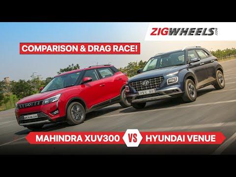 Hyundai Venue vs Mahindra XUV3OO Comparison Review   Tested on road and track!   Zigwheels.com