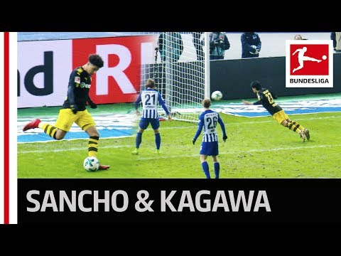 Jadon Sancho's First Assist - Kagawa Goal Salvages Dortmund Draw
