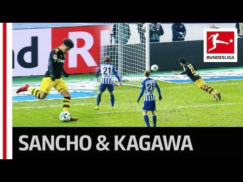 Jadon Sancho's First Assist - Kagawa Goal Salvages Dortmund Draw