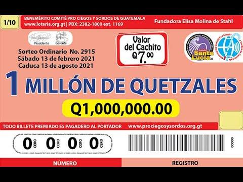 Sorteo Ordinario Millonario No. 2915