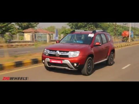 2016 renault duster diesel automatic video review zigwheels india. Black Bedroom Furniture Sets. Home Design Ideas