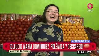 ¡Claudio María Domínguez, polémica y descargo!