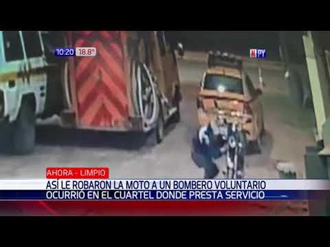 Intolerable: Roban moto a bombero voluntario