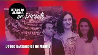 DIRECTO desde la SESIÓN PLENARIA de la Asamblea de Madrid con DÍAZ AYUSO y ROCÍO MONASTERIO VOX