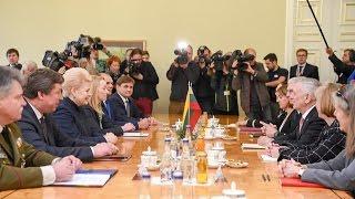 Prezidentė susitinka su JAV gynybos sekretoriumi Jamesu Mattisu