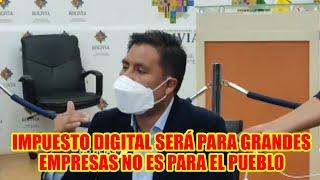 DIPUTADO OMAR YUJRA  EXPLICA ACERCA DE LA LEY DE IMPUESTO DIGITAL EN BOLIVIA..