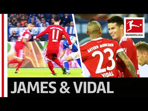 A World Class Assist and a Dream Finish - James and Vidal Shine in Bayern's Attack