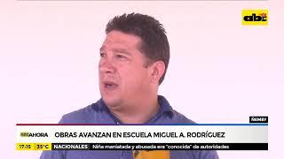Obras avanzan en escuela Miguel Ángel Rodríguez