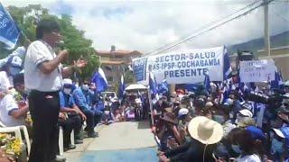 Evo Morales en la concentración en Sacaba tras caminata junto a candidatos | Bolivia Cochabamba
