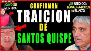ARIAS CONFIR-MA TRAICI-ON DE SANTOS QUISPE. REALIZO PACTO CON GOLPIST4S Y MASA-CRA-DO-R3S DE EL ALTO