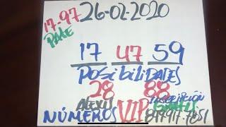 NÚMEROS PARA HOY 26 DE FEBRERO DEL AÑO 2020 - PARA ROMPER BANCAS.
