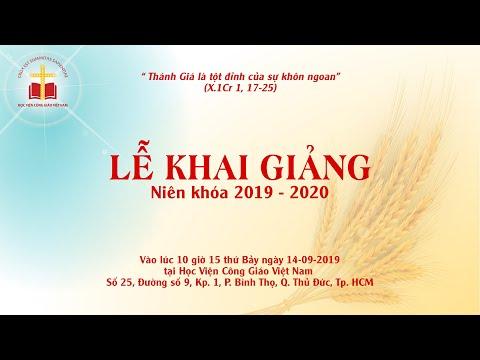 Trực tuyến: Thánh lễ Khai giảng Học viện Công Giáo Việt Nam nk 2019 - 2020