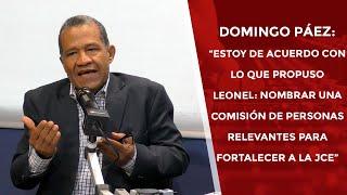 """Domingo Páez: """"Estoy de acuerdo con lo que propuso Leonel:"""