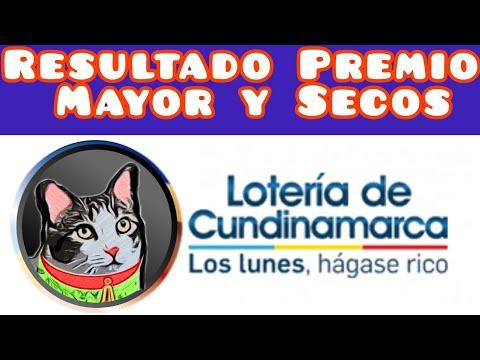 Resultado Loteria de Cundinamarca Premio Mayor y Secos lunes 20 septiembre de 2021