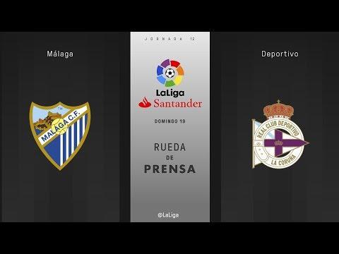 Rueda de prensa Málaga vs Deportivo
