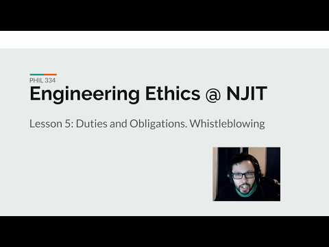Lesson 5: Duties and Obligations. Whistleblowing.