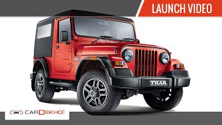 2015 New Mahindra Thar | Launch and First Look | CarDekho.com