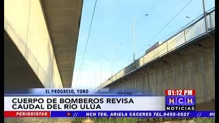 Bomberos mantienen monitoreo de los niveles del río Ulúa en El Progreso