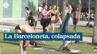 Colapso de deportistas en La Barceloneta