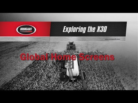 Bourgault X30 Apollo Controller - Global Home Screen Tutorial