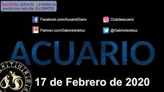 Horóscopo Diario - Acuario - 17 de Febrero de 2020