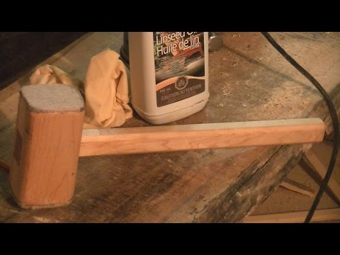 Home Made White Maple mallet
