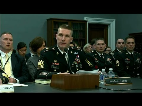 House Appropriations Subcommittee: Sgt. Maj. of the Army Daniel Dailey's testimony