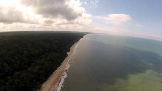 Pongara National Park from the air, Gabon